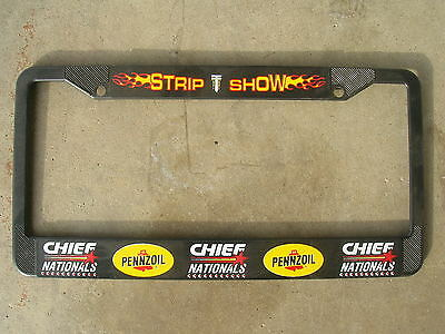 License Frame, Chief Nationals Drag Race Promotional, Pennzoil Collectible