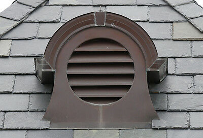 Copper dormer vent by Copper Craft for roof 9:12 pitch crated