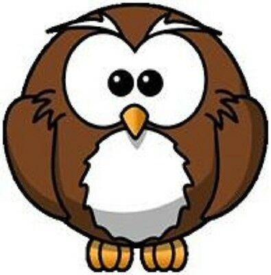 30 Custom Brown Owl Personalized Address Labels