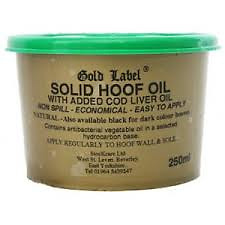 Gold Label Solid Hoof Oil Natural 500ml