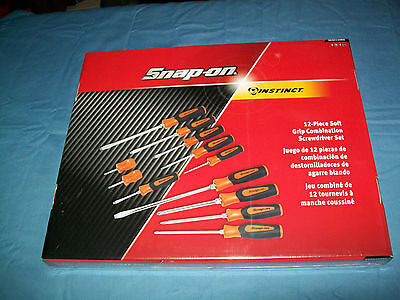 NEW Snap-on™ Instinct Orange Soft Grip Screwdriver Set 6 Phillips 6 Flathead