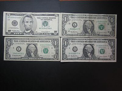 The United States Of America $5.00 $1.00 note163