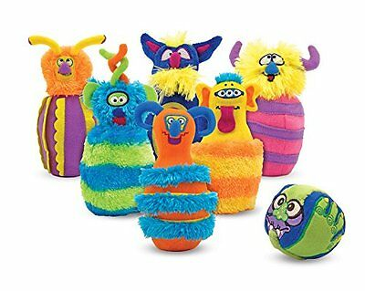 Toys Games Monster Preschool Plush 6 Pin Bowling Game With Carrying Case