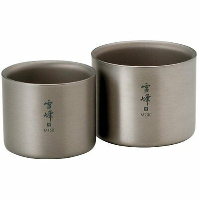 snow peak Titanium Stacking Mug Double Wall Ware Combo Sets TW-137