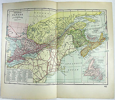Original 1895 Map of The Dominion of Canada
