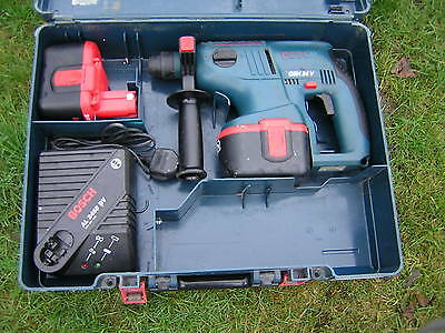 bosch GBH 24V  sds hammer drill  2 x batteries charger