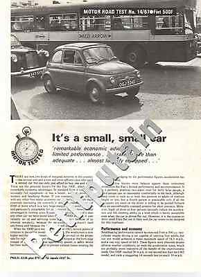 FIAT 500 F 1967 Road Test: 6 Sides Lovely Collectors Item.