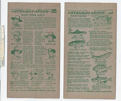 #28 Lot of 6 Diff 1952 NABISCO INJUN-UITY Cards Book #4 Cereal Straight Arrow
