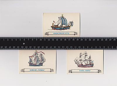 Rare Pocket Calendar USSR 1984 LOT - Ancient Sailing Ship 3 pcs
