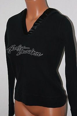 Woodstock, IL Harley-Davidson Women's Stretchy Pullover Hoodie size (S)