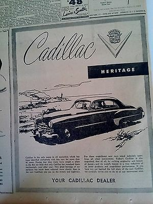 Sept 7, 1948 Newspaper Page #3000- Cadillac, Fine Cars For More Than 45 Years