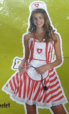 Hottie Totties by Disguise Candy Striper Nurse Halloween Costume Adult Small 4-6