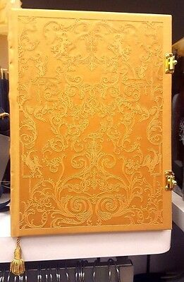 DISNEY Beauty and the Beast 2017 Movie Gold Cover Faux Leather Journal w Latches