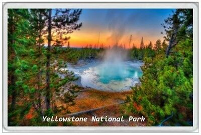 Yellowstone National Park  Jumbo Fridge Magnet - United States America American