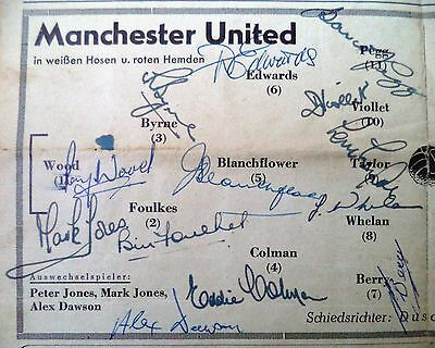 Manchester United Busby Babes 1957 – Autographed Football Programme