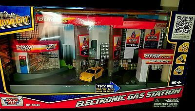 Motor Max Dyna City Electronic Gas Station! Very Rare!