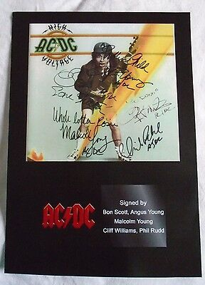 Signed A4 Print of Rock & Roll Masterminds AC/DC