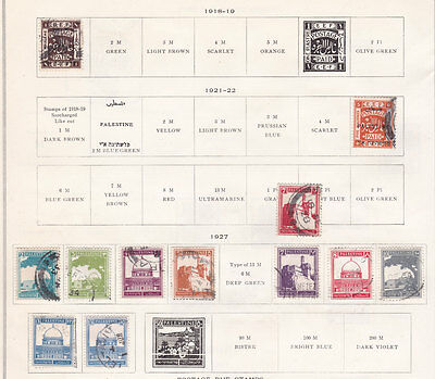 PALESTINE  ^^^^^^^1918-27   better    used   collection $$ @f6447xxbpal