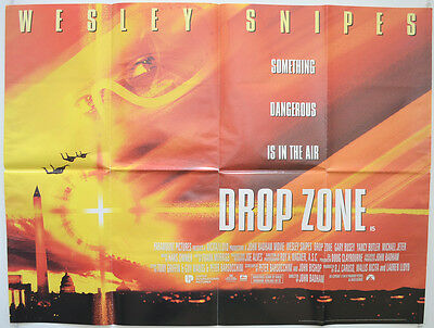 DROP ZONE (1995) Original Cinema Quad Movie Poster - Wesley Snipes,  Gary Busey