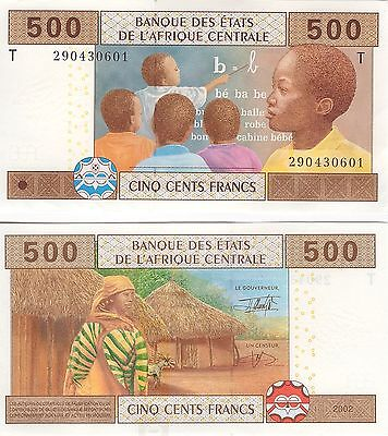 Central African Congo   500 Francs    2002    P-406,   Unc  Banknote   Africa