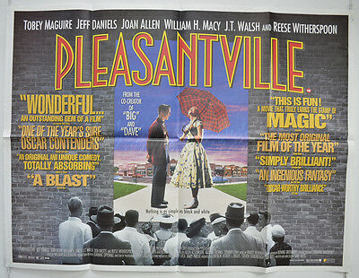 PLEASANTVILLE (1998) Cinema Quad Movie Poster - Tobey Maguire, Reese Witherspoon