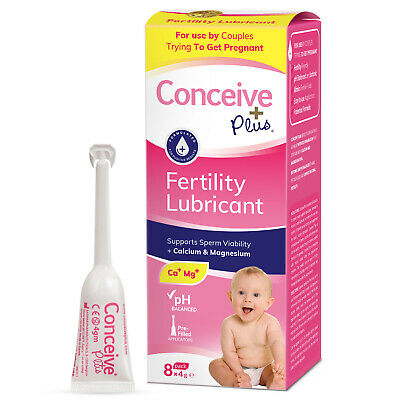 Conceive Plus Fertility Lubricant 8x 4g  Applicators**Manufacturer Direct**