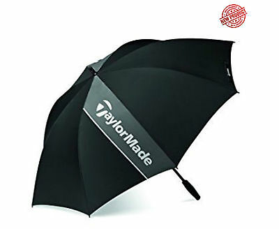 "TaylorMade Golf Single Canopy 60 Inch Umbrella in Black & Grey ""NEW 2017"""