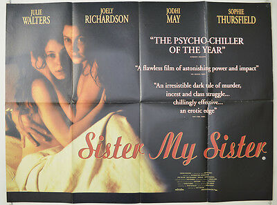 SISTER MY SISTER (1995) Quad Movie Poster - Julie Walters, Joely Richardson