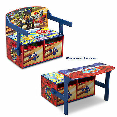 New Delta Children Paw Patrol Convertible Bench / Desk / Toy Storage Box