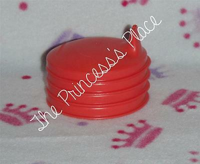 Tupperware Domed Red Sipper Sippy Tumbler Seals Tops Lids Set of 4 NEW
