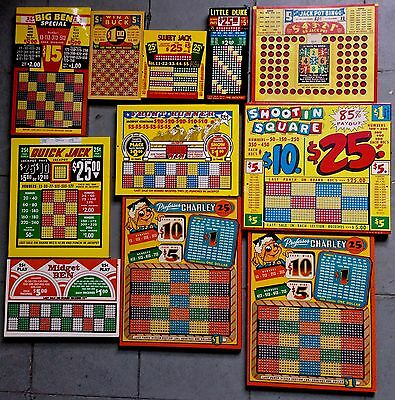 11 vintage punchboards FREE SHPNG NOS unpunched great color & condition