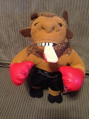 Mike (Tyson) Bison Boxing Meanie Beanie Baby Plush Toy Meanies w/tag