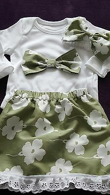 Baby girls handmade Skirt set size 0-3 months