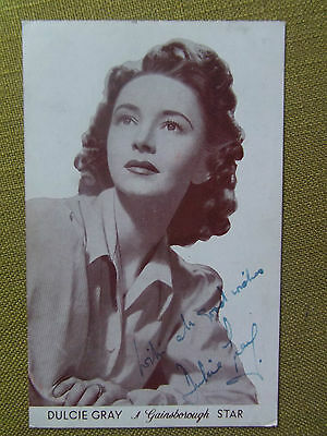DULCIE GRAY Vintage postcard autograph Signed 40s actress film star theatre