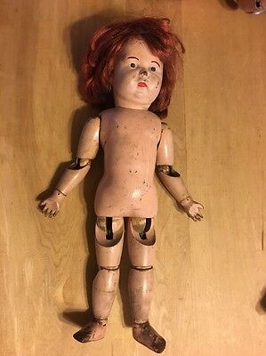 Approximate 17 Toddler Schoenhut Doll-nude-rewigged-poses Well