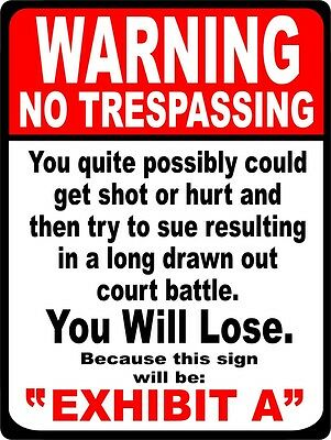 SECURITY SURVEILLANCE Metal Tin Sign NO TRESPASSING  * Burglar * Robber * Thief