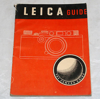 Vintage Leica Guide Camera Manual Book 2Nd American Edition 1946