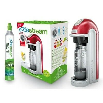 SodaStream Fizz Digital  Automatic Home Fizzy Sparkling Water Drinks Maker, RED