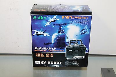 ESKY 0905A Hobby  RC Flight Simulator FMS Controller Trainer & Manual USB to PC