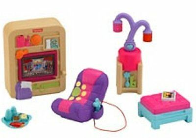 Fisher Price Loving Family Light Up Your Home Dollhouse Rec Room