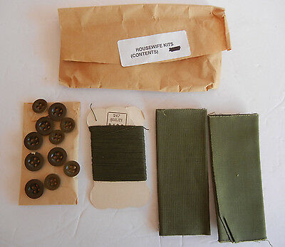 British Army Sewing Kit (Housewife) Contents