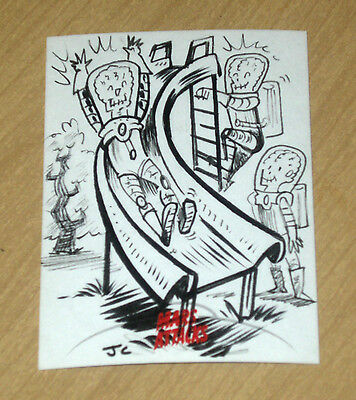 2013 Topps MARS ATTACKS INVASION sketch card 1/1 Jason Crosby