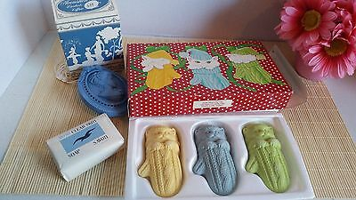 Vtg Lot of Avon Collectables Wardrobe Pomander Clear Skin Soap Christmas Cats