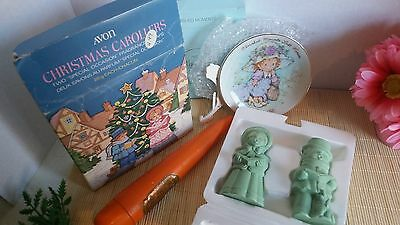 Vtg Lot of Avon Collectables Marching Proud Decanter Topaze Soap Skin Soft Soap