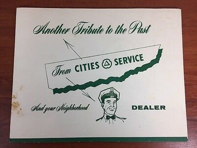 Vintage 1950's Cities Service Gas & Oil Advertising Tribute To The Past Ships