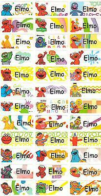 Personalized Waterproof Name labels stickers, 36 Elmo , day care, school,