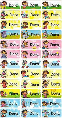 Personalized Waterproof Name labels stickers, 36 Dora , day care, school,