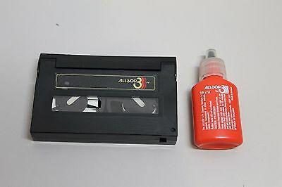 ALLSOP 3 8mm Camcorder Head and Tape Path Cleaner Wet with fluid