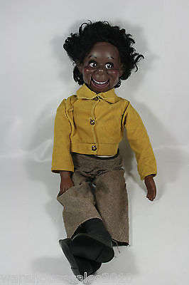 1973 Lester African American Ventriloquist Doll Dummy By Eegee Co US