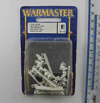 Warmaster CHAOS HOUNDS (d) Metal Army Blister Pack War Master 1999 K260